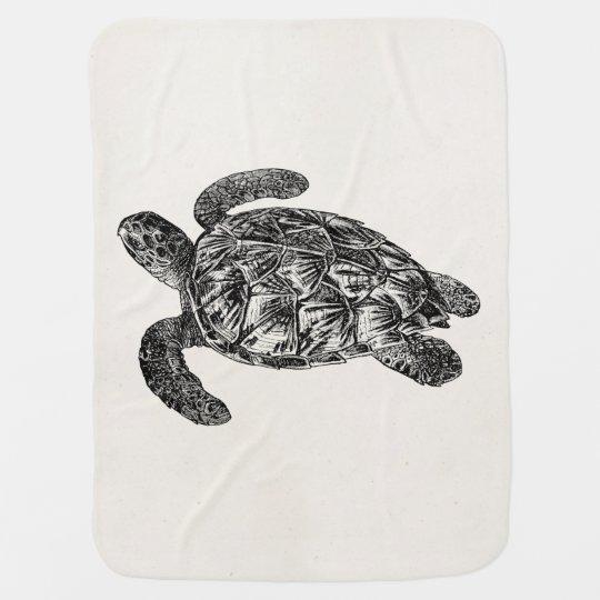 Vintage Imbricated Sea Turtle