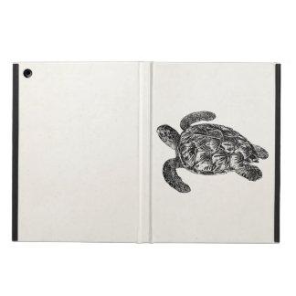 Vintage Imbricated Sea Turtle - Turtles Template iPad Air Cover