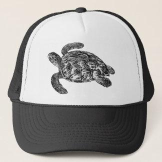 Vintage Imbricated Sea Turtle - Turtles Template Trucker Hat