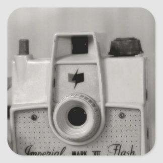 Vintage Imperial Camera Square Sticker