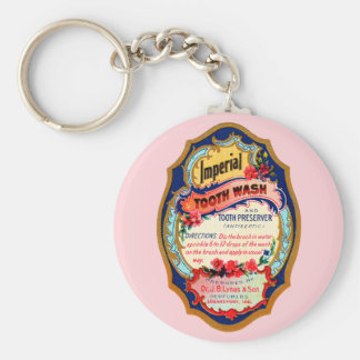 Vintage Imperial Tooth Wash Label Basic Round Button Keychain