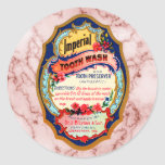 Vintage Imperial Tooth Wash Label Round Stickers