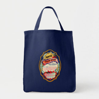 Vintage Imperial Tooth Wash Label Tote Bag