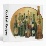Vintage Imported Beer Bottles, Alcohol, Beverages Vinyl Binders