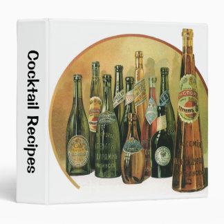 Vintage Imported Beer Bottles, Alcohol, Beverages Vinyl Binder