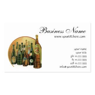Vintage Imported Beer Bottles, Alcohol, Beverages Business Card