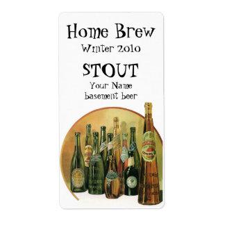 Vintage Imported Beer Bottles, Alcohol, Beverages Shipping Label