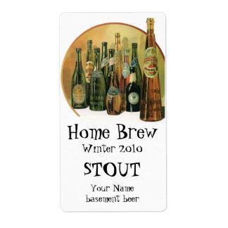 Vintage Imported Beer Bottles Alcohol Beverages Custom Shipping Label