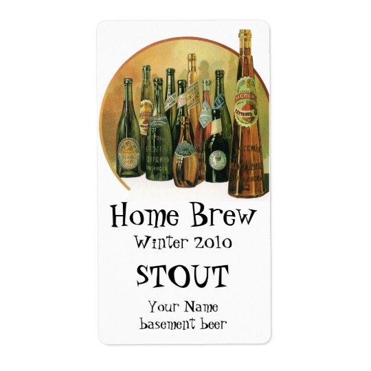 Vintage Imported Beer Bottles, Alcohol, Beverages Label