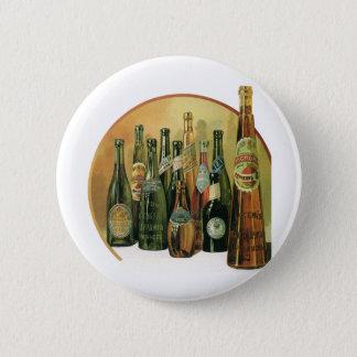 Vintage Imported Beer Bottles, Alcohol, Beverages Pinback Button