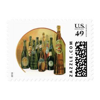Vintage Imported Beer Bottles, Alcohol, Beverages Postage