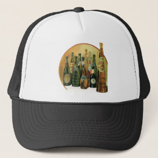 Vintage Imported Beer Bottles, Alcohol, Beverages Trucker Hat