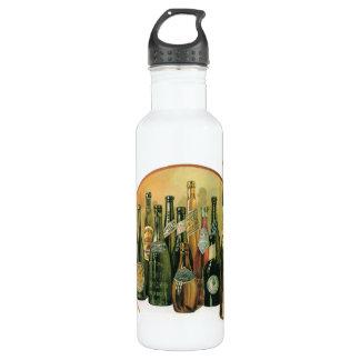 Vintage Imported Beer Bottles, Alcohol, Beverages Water Bottle