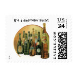 Vintage Imported Beers, It's a Dadchelor Party! Stamp