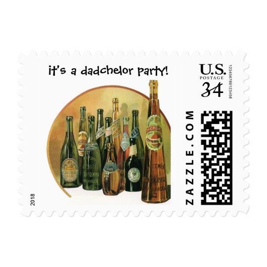 Vintage Imported Beers, It's a Dadchelor Party! Postage