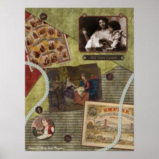 """Vintage impresión del libro de recuerdos """"de la le póster"""