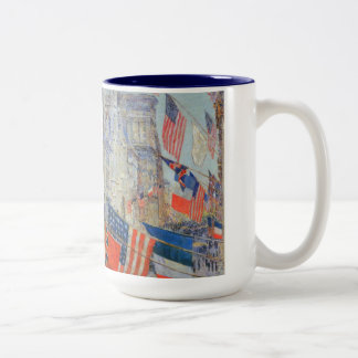Vintage Impressionism, Allies Day, May 1917 Hassam Two-Tone Coffee Mug