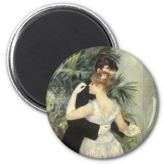 Vintage Impressionism Art, City Dance by Renoir 2 Inch Round Magnet