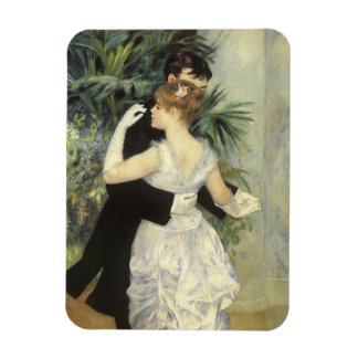 Vintage Impressionism Art, City Dance by Renoir Rectangular Photo Magnet