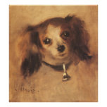Vintage Impressionism Art, Head of a Dog by Renoir Poster