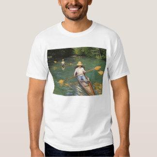 Vintage Impressionism Art, Oarsmen by Caillebotte T Shirt