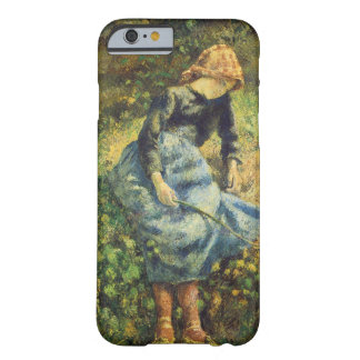 Vintage Impressionism Art, Shepherdess by Pissarro Barely There iPhone 6 Case