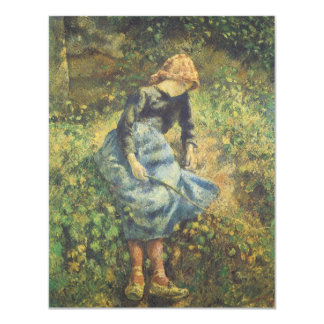 Vintage Impressionism Art, Shepherdess by Pissarro Card