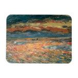 Vintage Impressionism Art, Sunset at Sea by Renoir Rectangular Photo Magnet