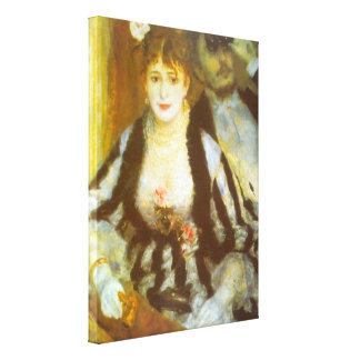 Vintage Impressionism Art, Theater Box by Renoir Canvas Print