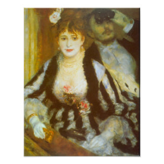 Vintage Impressionism Art, Theater Box by Renoir Poster