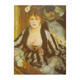 Vintage Impressionism Art, Theater Box by Renoir Wood Wall Art