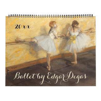 Vintage Impressionism Ballet Art by Edgar Degas Calendar