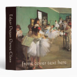 Vintage Impressionism Ballet Dance Class by Degas 3 Ring Binder