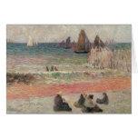 Vintage Impressionism, Bathing Dieppe by Gauguin Greeting Card