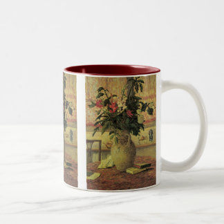 Vintage Impressionism Bouquet of Flowers by Maufra Two-Tone Coffee Mug