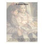 Vintage Impressionism, Children Portrait by Renoir Letterhead