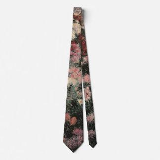 Vintage Impressionism, Chrysanthemums by Bunker Neck Tie