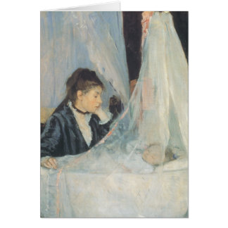 Vintage Impressionism, Cradle by Berthe Morisot Card