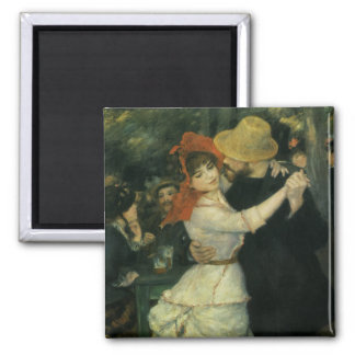 Vintage Impressionism, Dance at Bougival by Renoir 2 Inch Square Magnet