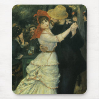 Vintage Impressionism, Dance at Bougival by Renoir Mouse Pad