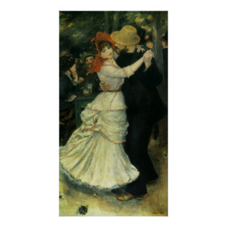 Vintage Impressionism, Dance at Bougival by Renoir Poster