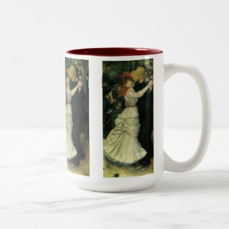 Vintage Impressionism, Dance at Bougival by Renoir Two-Tone Coffee Mug