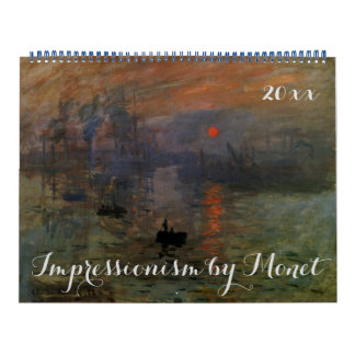 Vintage Impressionism Fine Art by Claude Monet Calendar