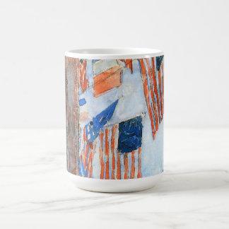 Vintage Impressionism, Flags Fifth Avenue, Hassam Classic White Coffee Mug