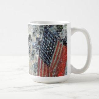 Vintage Impressionism, Flags on 57th Street Hassam Classic White Coffee Mug