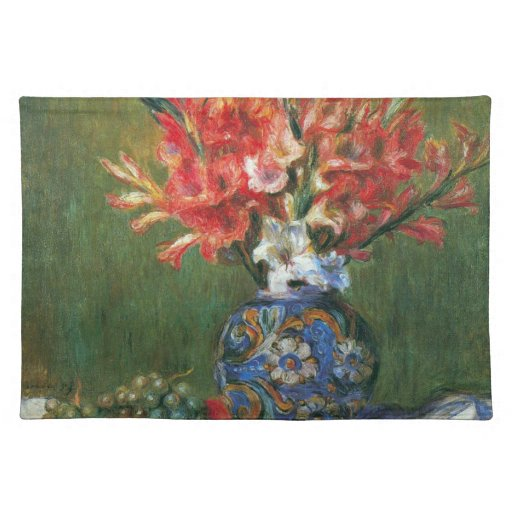 Vintage Impressionism, Flowers and Fruit by Renoir Cloth Place Mat