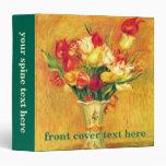 Vintage Impressionism Flowers, Tulips by Renoir 3 Ring Binders