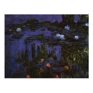 Vintage Impressionism Flowers Waterlilies by Monet Postcard