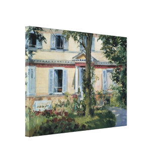 Vintage Impressionism, House at Rueil by Manet Canvas Print