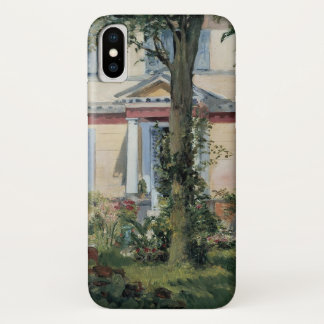 Vintage Impressionism, House at Rueil by Manet iPhone X Case